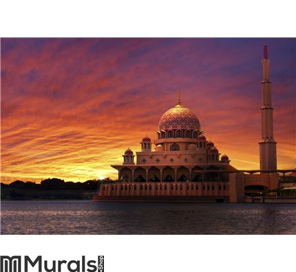 Sunset at the Classic Mosque Wall Mural Wall art Wall decor
