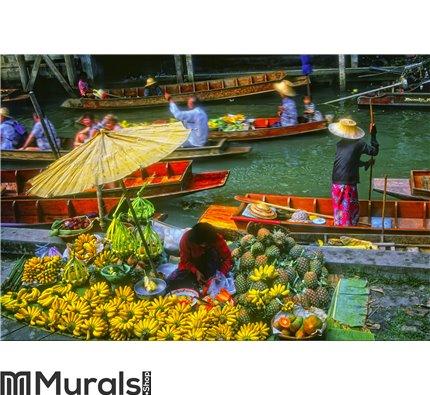 Floating Market, Thailand Wall Mural Wall art Wall decor