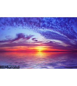 Bay Beach Sunset Wall Mural