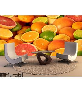 Citrus Fruit Wall Mural Wall art Wall decor