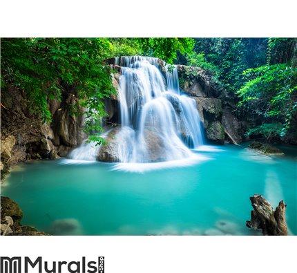 Huay Mae Kamin Waterfall in Kanchanaburi province, Thailand Wall Mural Wall art Wall decor
