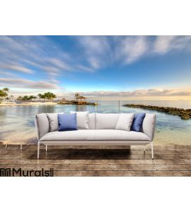 Beach in Nassau Morning Wall Mural Wall art Wall decor