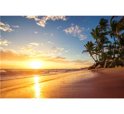 Dreamy sunrise on a tropical island Wall Mural Wall Tapestry tapestries