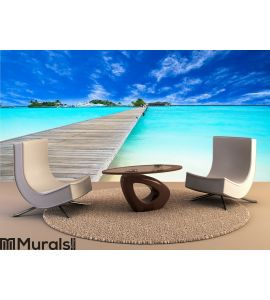 Amazing island and pristine beach in Maldives Wall Mural Wall Tapestry tapestries