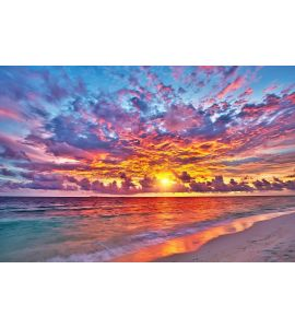 SUNSET OVER OCEAN wall mural