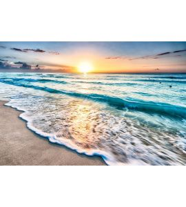 Sunrise Over Beach Wall Mural