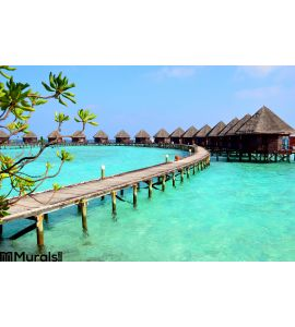 Resort in Maldives Wall Mural Wall art Wall decor