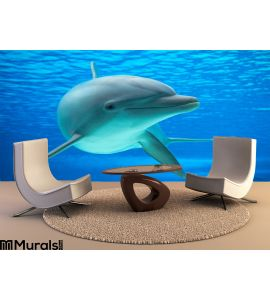 Dolphin Wall Mural Wall art Wall decor