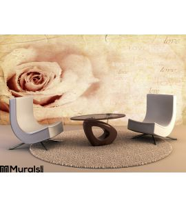Grungy rose background Wall Mural Wall art Wall decor