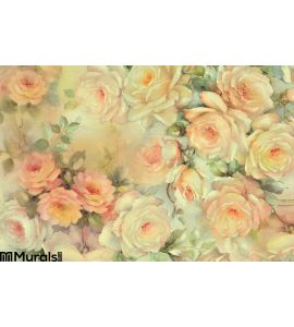 Background of delicate roses Wall Mural Wall art Wall decor