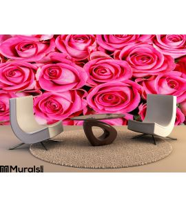Pink roses Wall Mural Wall art Wall decor