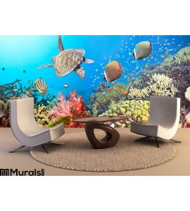 Underwater Panorama Wall Mural Wall art Wall decor