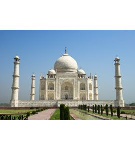Taj Mahal Blue Sky Travel To Agra India Wall Mural Wall art Wall decor