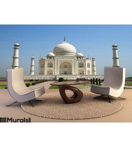 Taj Mahal Blue Sky Travel To Agra India Wall Mural Wall art Wall decor