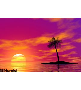 Single Palm Wall Mural Wall art Wall decor