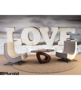 Love Wooden Letters Wall Mural Wall art Wall decor