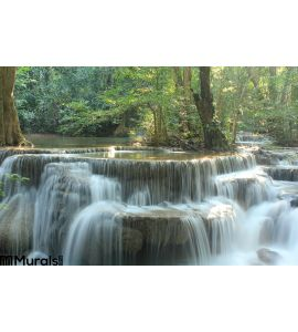 Huay Mae Kamin Waterfall Wall Mural Wall art Wall decor