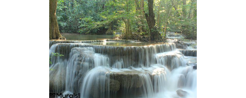 Huay Mae Kamin Waterfall Wall Mural