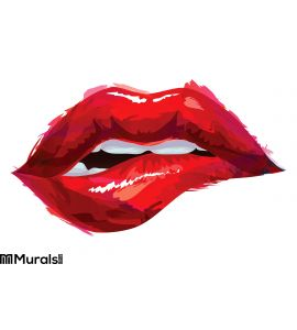 Sexy Red Lips Wall Mural Wall art Wall decor