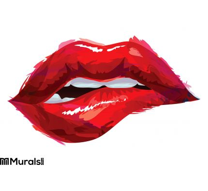Red Lips Wall Decoration