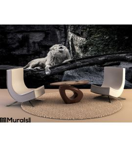 White Lion Wall Mural Wall art Wall decor