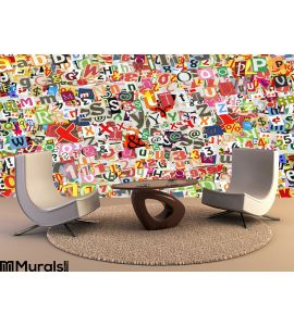 Colorful Letters Collage Wall Mural Wall art Wall decor