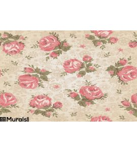 Vintage Seamless Floral Pattern Wall Mural