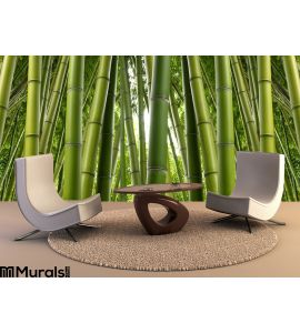 Bamboo Grove Wall Mural Wall Tapestry tapestries