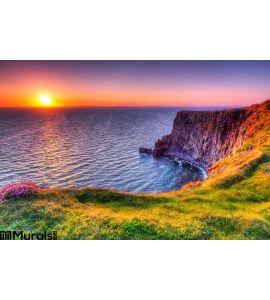 Cliffs Moher Sunset Wall Mural