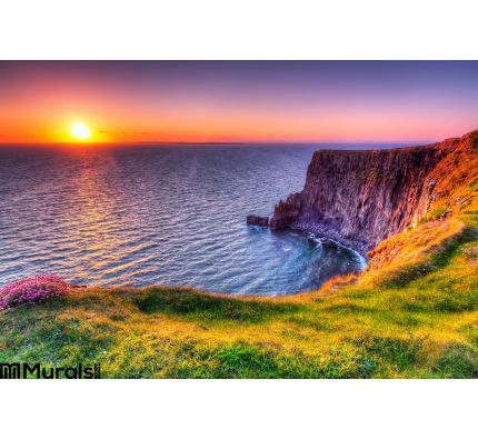Cliffs Moher Sunset Wall Mural Wall Tapestry tapestries