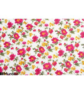 Floral pattern on seamless cloth Wall Mural
