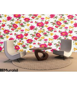 Floral pattern on seamless cloth Wall Mural Wall Tapestry tapestries