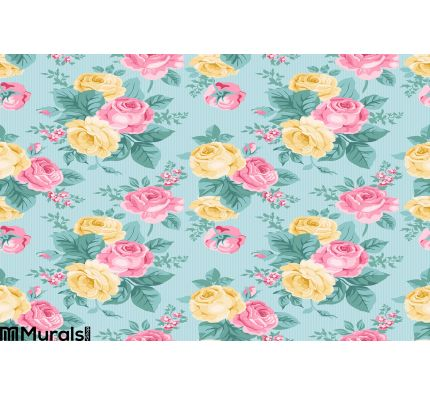 Vector seamless vintage floral pattern Wall Mural Wall Tapestry tapestries