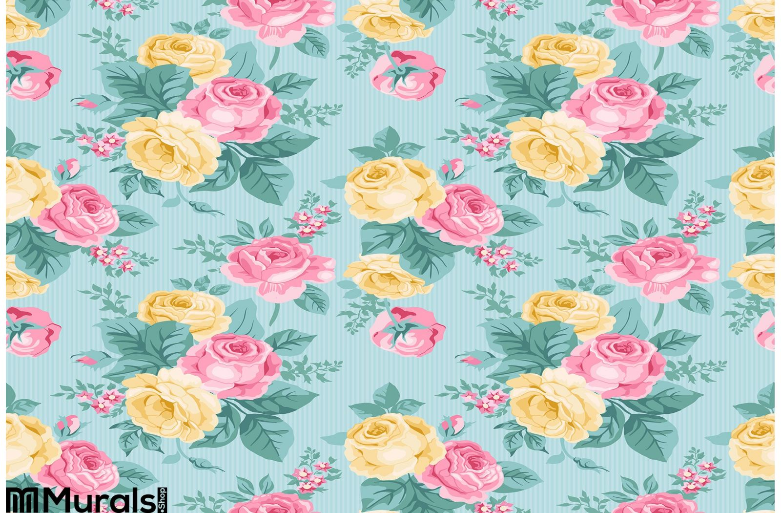 Vector Seamless Vintage Floral Pattern Wall Mural