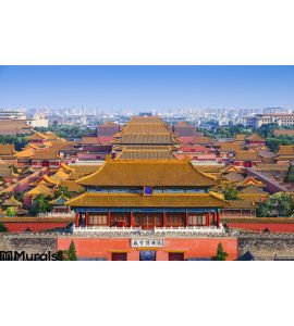 Beijing China Forbidden City Wall Mural
