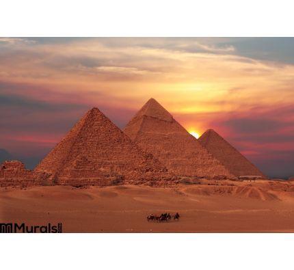 Giza Pyramids Wall Mural Wall Tapestry tapestries