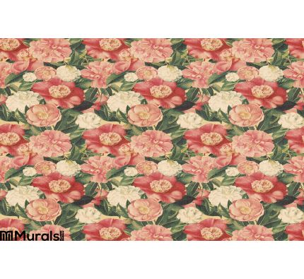 Vintage Style Floral Background Pink Blooms Wall Mural Wall Tapestry tapestries