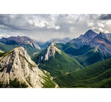 Mountain Range Landscape View Jasper Np Canada Wall Mural Wall Tapestry tapestries