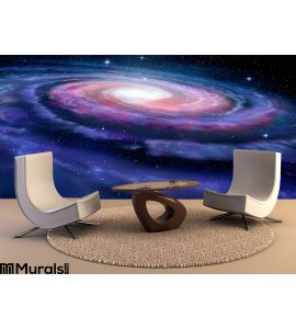 Spiral galaxy, illustration of Milky Way Wall Mural Wall Tapestry tapestries
