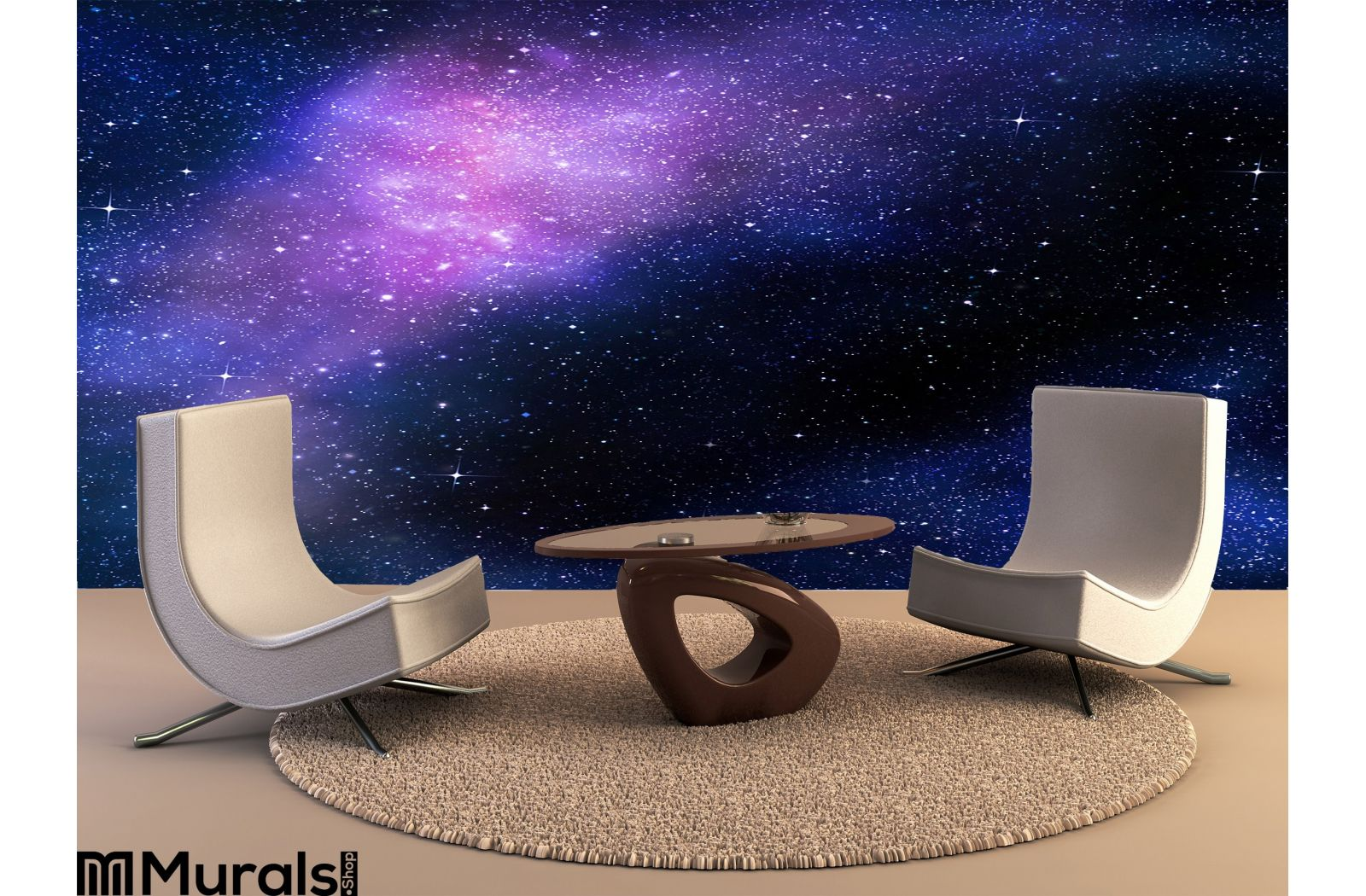Starry Deep Outer Space Nebual Galaxy Wall Mural