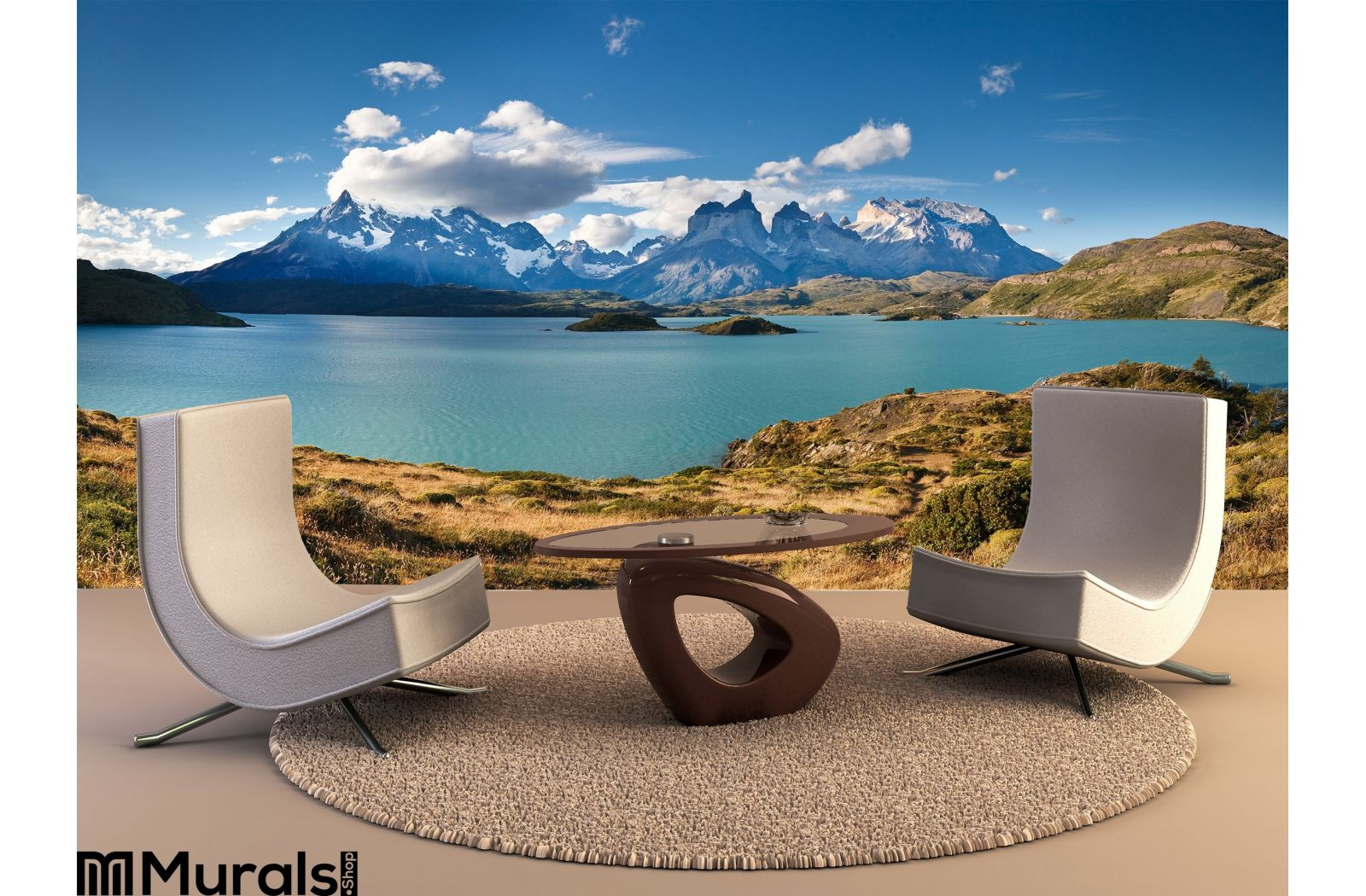 Torres Del Paine National Park Lake Pehoe Wall Mural