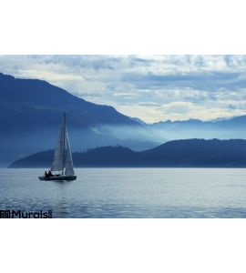 Sailing Lake Zug Wall Mural