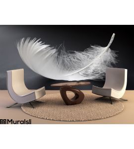 White Feather Wall Mural Wall Tapestry tapestries