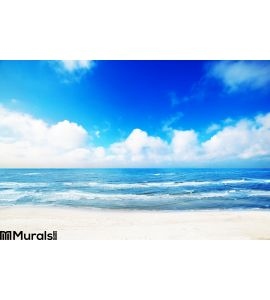 Hot Summer Beach Sea Scenery Wall Mural