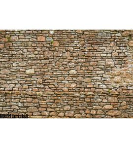 Old Ancient Wall Made Stone Wall Mural