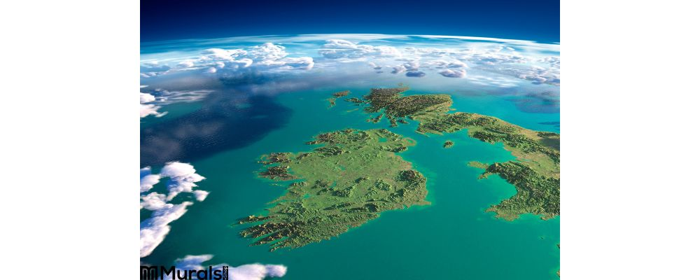 Fragments of the planet Earth. Ireland and UK Wall Mural