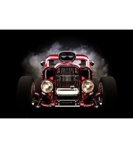 Hot Rod Smoke Background Wall Mural