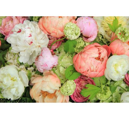 Peonies Wedding Arrangement Wall Mural Wall Tapestry tapestries