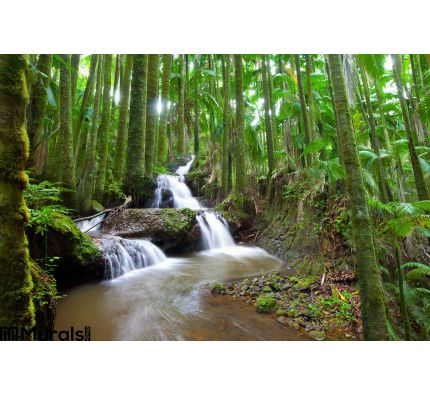Waterfall Tropical Palm Forest Wall Mural Wall Tapestry tapestries