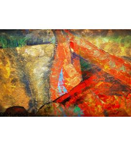 Abstract Art Paint Color Wall Mural Wall Tapestry tapestries